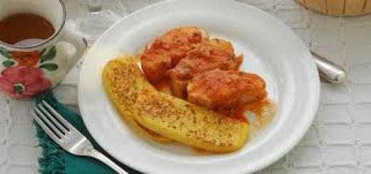 Stoccafisso in salsa di pomodori e vino rosso