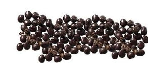 chicchi di caffè ricoperti al cioccolato