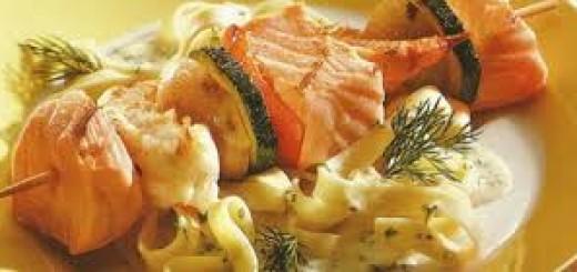 Spiedini al salmone