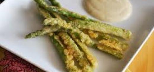 Tempura di asparagi