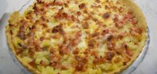 Torta salata di quark e patate