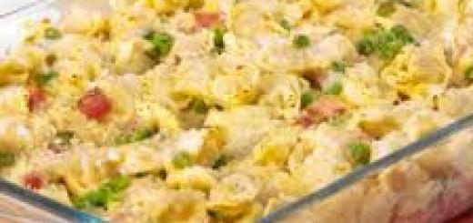 sformato di tortellini gratinato alle verdure
