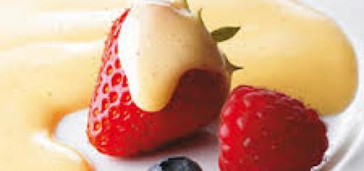 spiedini di frutta con zabaione