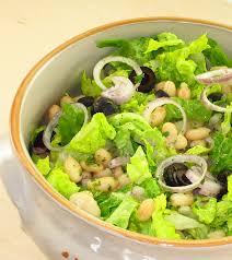 insalata romana e fagiolini bianchi