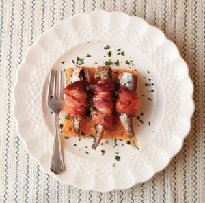 sardine con la pancetta