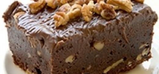 brownies al cioccolato con noci