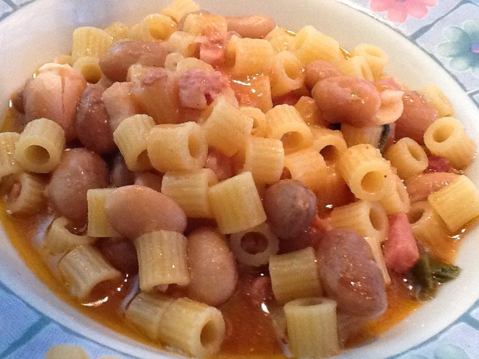 Ricetta pasta e fagioli calabrese