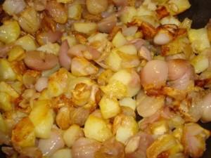 patate e cipollette cunsati alla frissura