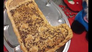 Calza della Befana di pasta a sfoglia ripiena di Nutella
