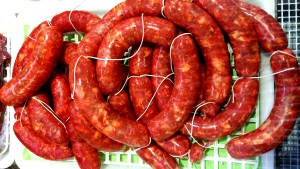 salsiccia di maiale alla calabrese fresca fatta in casa
