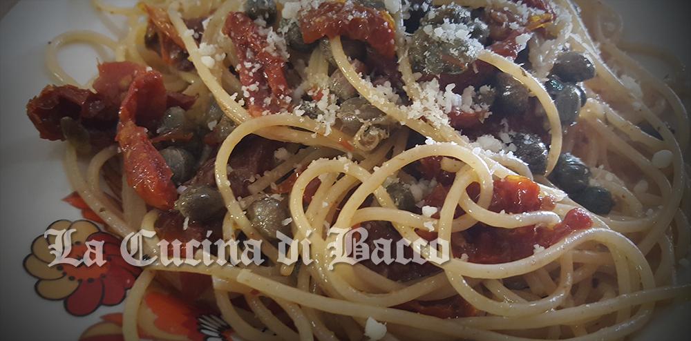 Spaghetti pomodorini secchi e capperi
