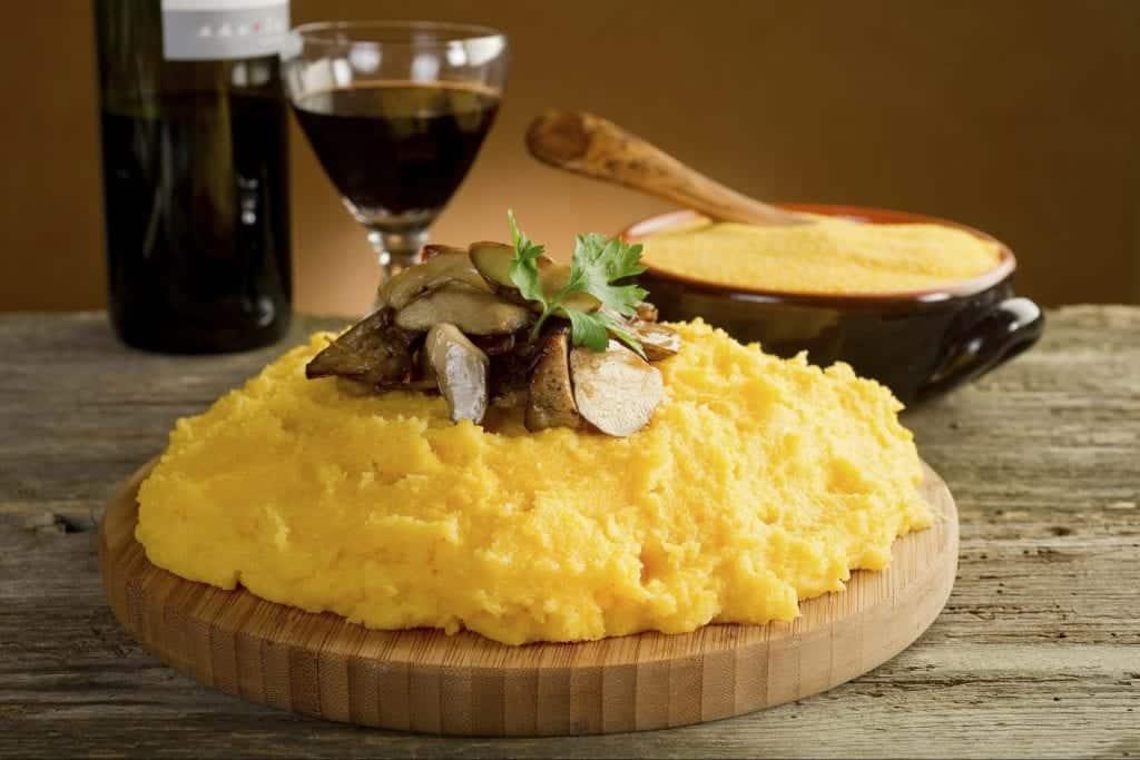 polenta con i fegatini di pollo