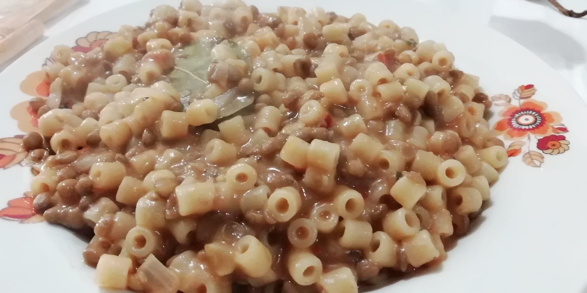 Pasta e lenticchie alla calabrese