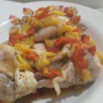 Pollo con i peperoni in padella alla calabrese