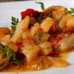 Baccalà in umido con patate alla calabrese