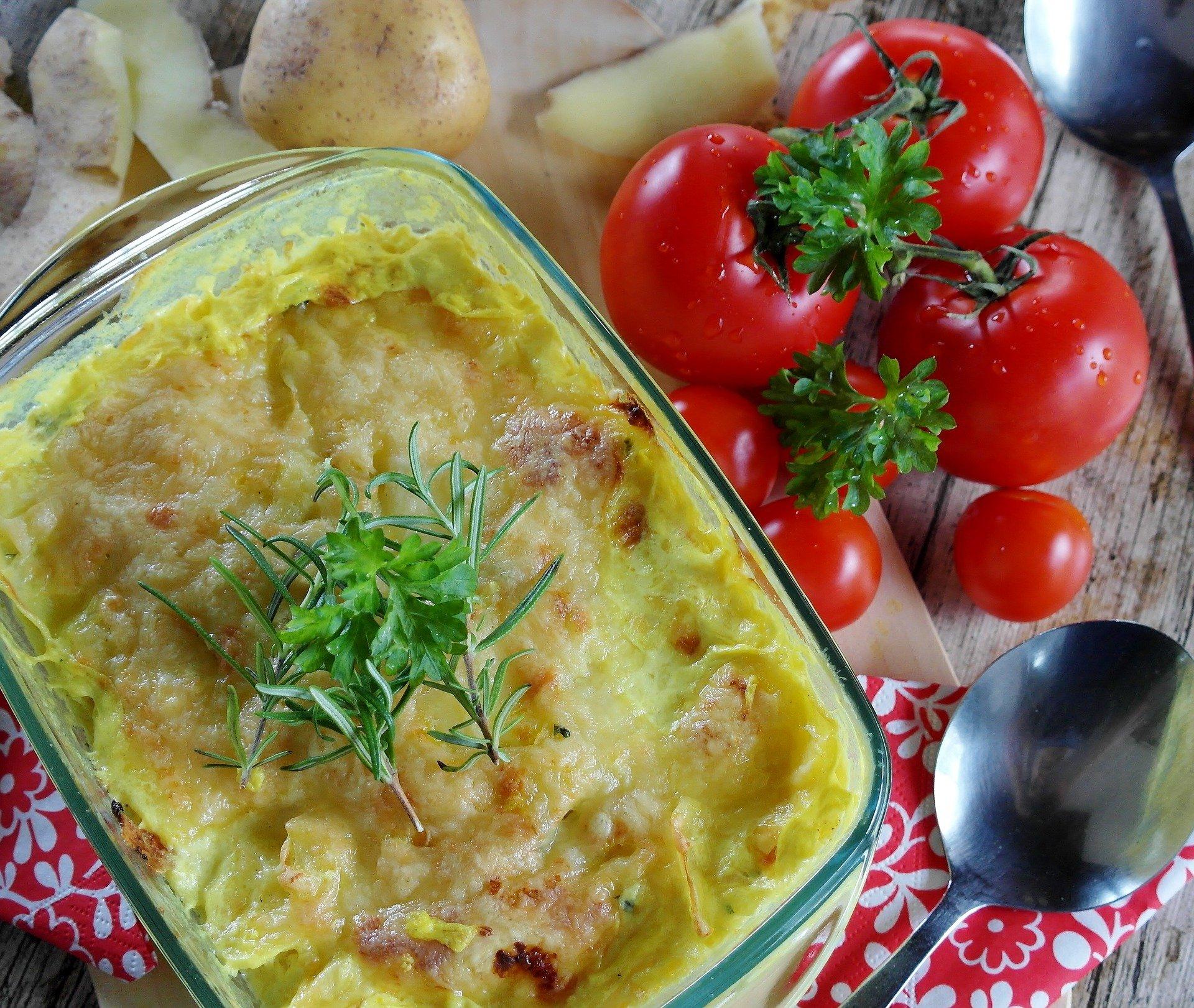 Torta di patate e pancetta